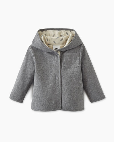 Roots-Sweats Baby-Baby's First Reversible Cardi-Salt & Pepper-A