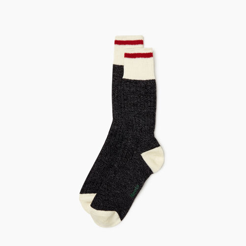 Roots-Women Socks-Womens Roots Cabin Sock 2 pack-Black Mix-A