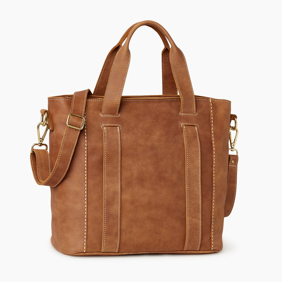 Roots-Leather  Handcrafted By Us Our Favourite New Arrivals-Victoria Tote-Natural-C