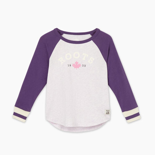 Roots-Sale Toddler-Toddler Cabin Baseball T-shirt-Loganberry-A