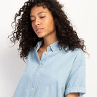 Roots-Women Clothing-Clermont Chambray Shirt-Chambray Blue-E