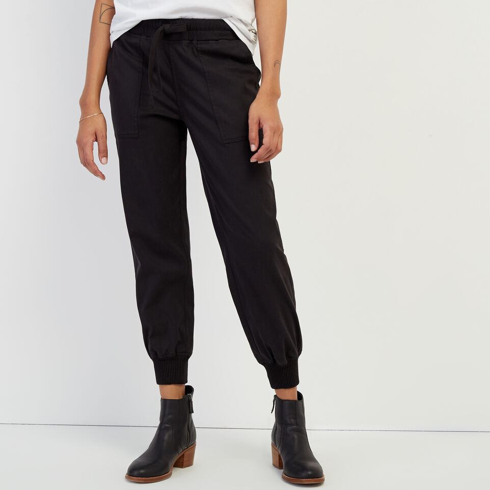 Roots-New For February Journey Collection-Journey Jogger-Black-A