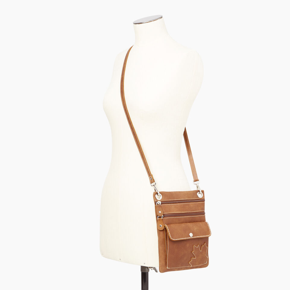 Roots-Leather Canada Collection By Roots™-Trans Canada Urban Pouch-Natural-B