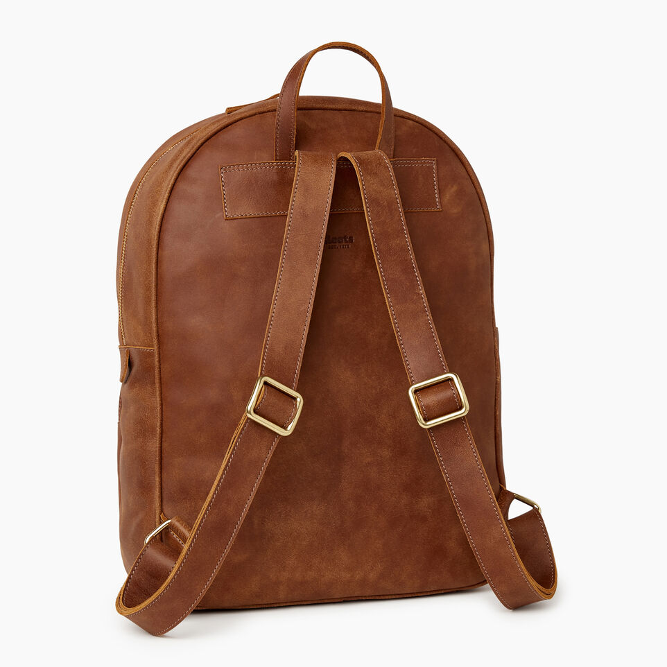 Roots-Leather New Arrivals-Jasper Backpack-Natural-C