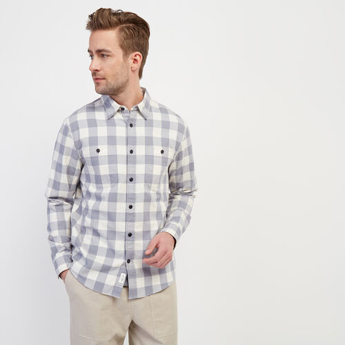 Roots-Sale Tops-Lightweight Park Plaid Shirt-Tradewinds-A