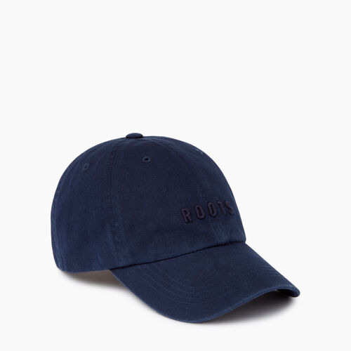 Roots-Men Accessories-Roots Classic Baseball Cap-Navy-A