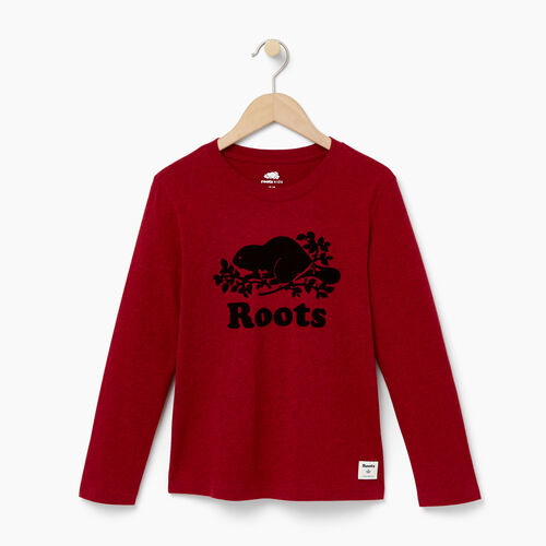Roots-Kids Our Favourite New Arrivals-Boys Original Cooper Beaver T-shirt-Cabin Red Pepper-A