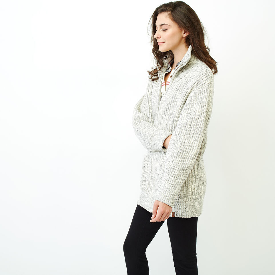 Roots-Women Our Favourite New Arrivals-Snowy Fox Zip Coatigan-Snowy Fox-C