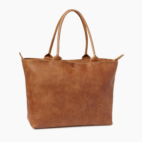 Roots-Clearance Leather-Mont Royal Tote-Natural-A