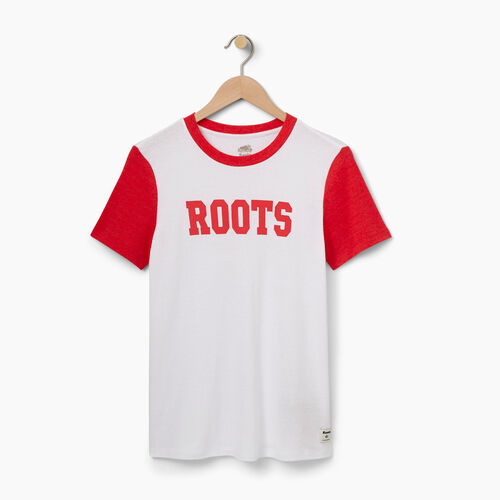 Roots-Sale Women-Womens Dawson T-shirt-White-A