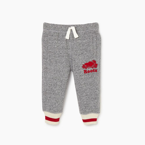 Roots-Clearance Baby-Baby Roots Cabin Cozy Sweatpant-Salt & Pepper-A