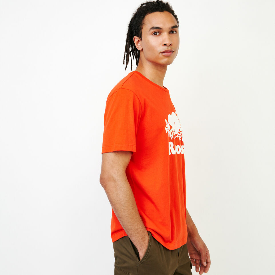 Roots-New For July Men-Mens Cooper Beaver T-shirt-Spicy Orange-D