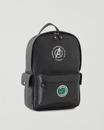 Roots-Leather Backpacks-Avengers Hulk Central Pack-Black-A