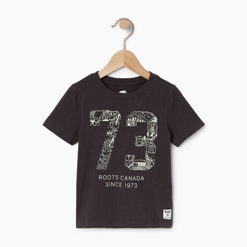 Roots-Kids T-shirts-Toddler Roots Paddle T-shirt-Coal Grey-A