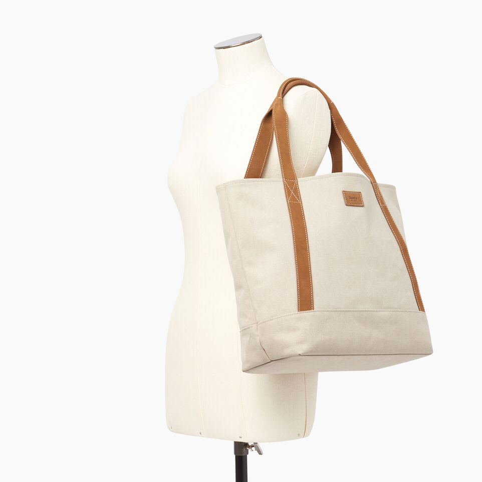 Roots-Women Our Favourite New Arrivals-Muskoka Tote Canvas-Natural-B