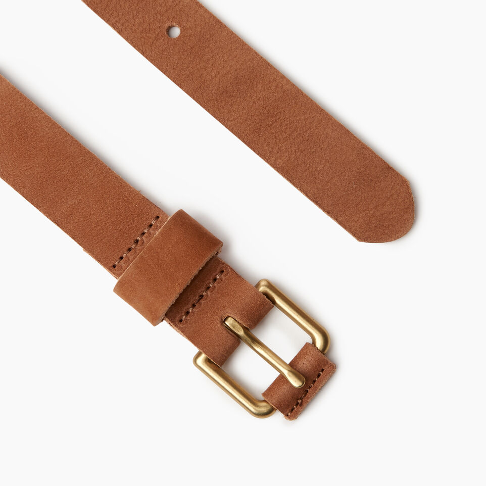 Roots-Women Clothing-Roots Womens Leather Roller Belt-Tan-B