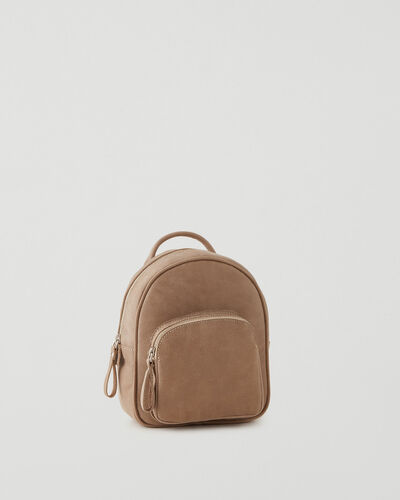 Roots-Leather Backpacks-Mini Chelsea Pack Tribe-Sand-A