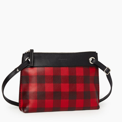 Roots-Leather New Arrivals-Park Plaid Edie Bag Cervino-Cabin Red-A