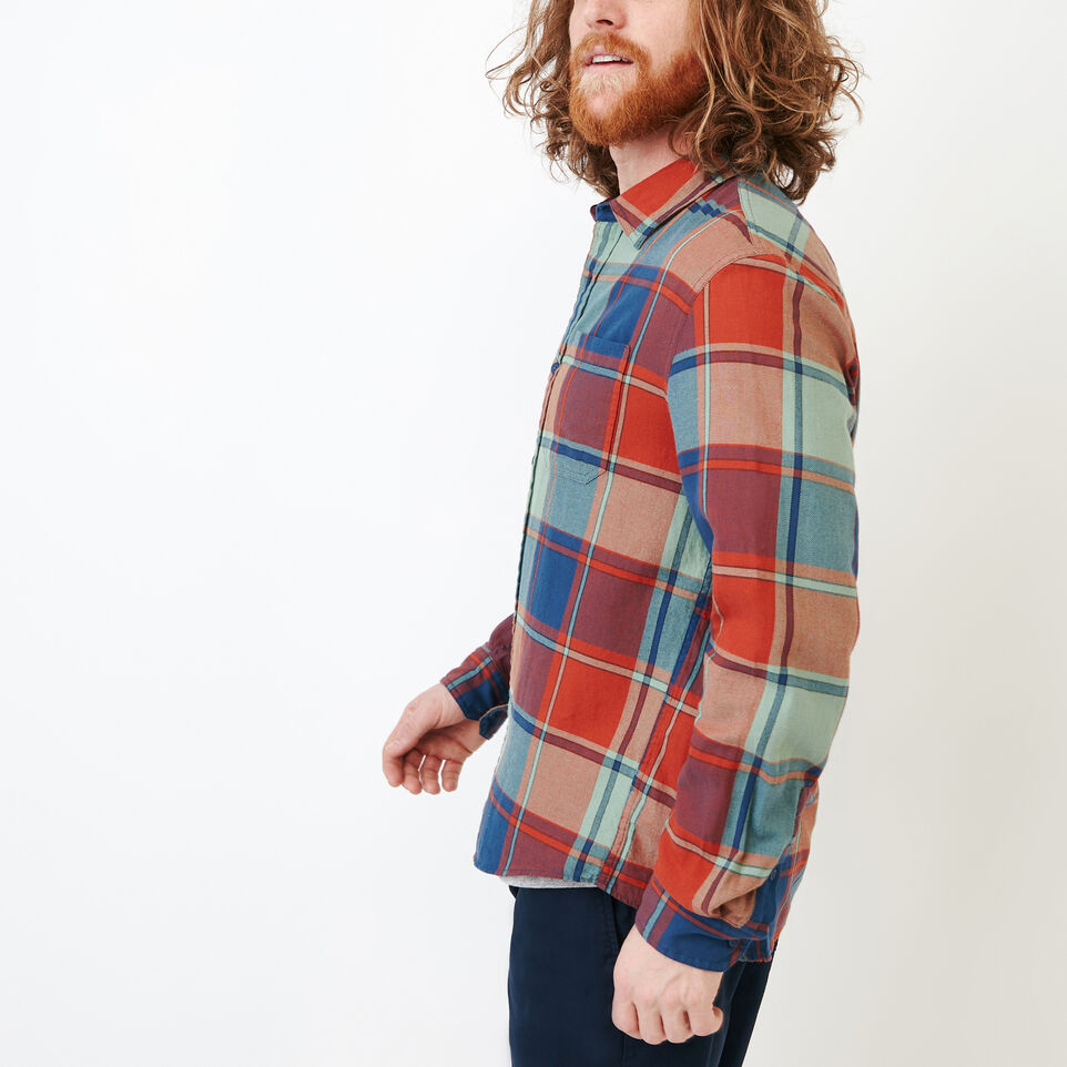 Roots-Men Our Favourite New Arrivals-Lakewood Plaid Shirt-Sargasso Sea-C