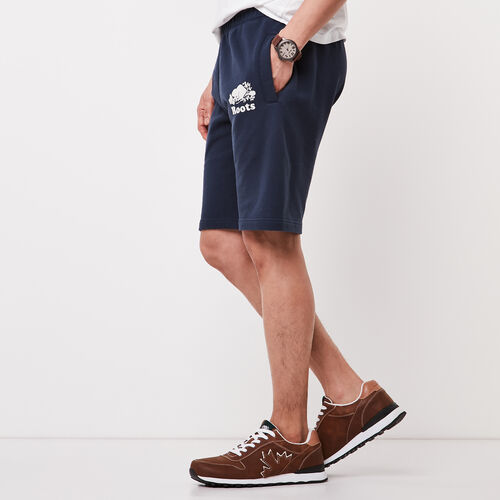 Roots-Men Shorts-Original Terry Short-Cascade Blue-A