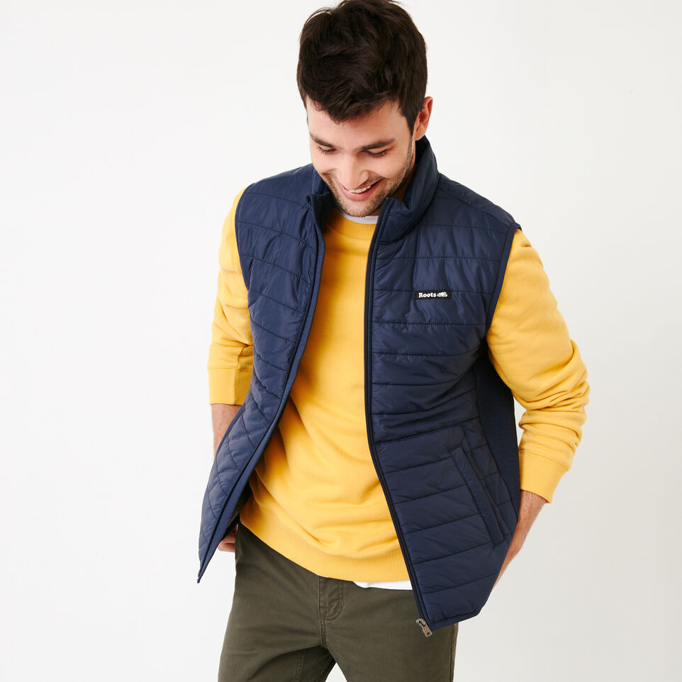 Roots-Men Categories-Roots Hybrid Vest-Navy Blazer-A