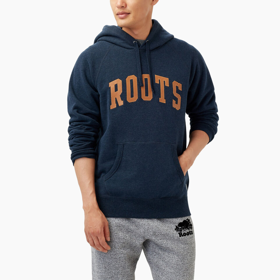 Roots-Winter Sale Men-Roots Arch Kanga Hoody-Navy Blazer Mix-A