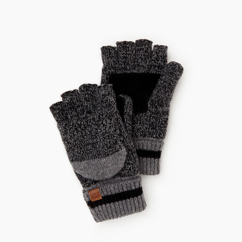 Roots-New For October The Roots Cabin Collection™-Mens Roots Cabin Flip Mitt-Black Mix-A