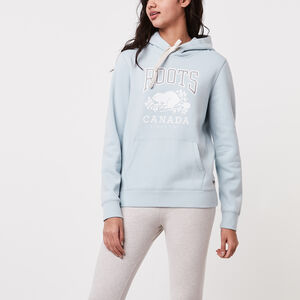 Roots-Women Tops-Classic Pullover Kanga Hoody-Chambray Blue-A