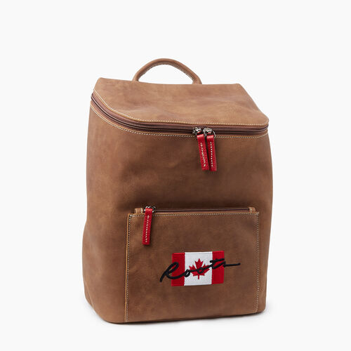 Roots-Gifts Holiday X Mclean Family-Script Canada Backpack Tribe-Natural-A