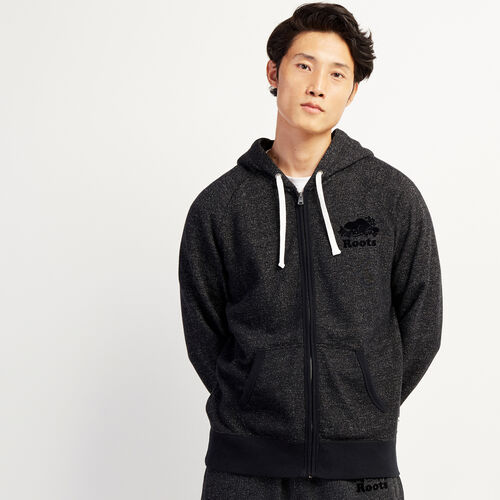 Roots-Sweats Men-Original Full Zip Hoody-Black Pepper-A