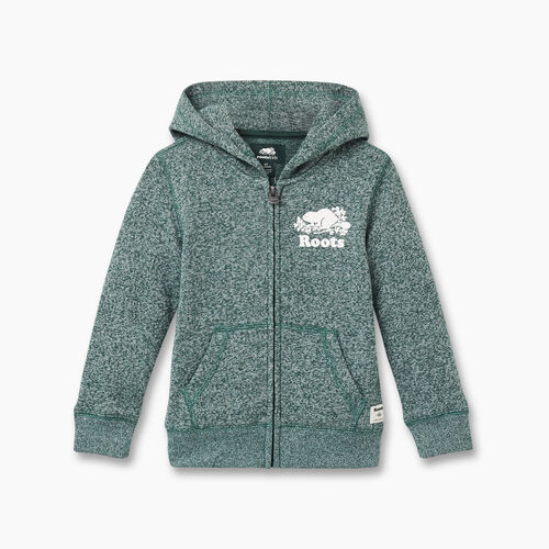 Roots-Kids Toddler Boys-Toddler Original Full Zip Hoody-Hunter Green Pepper-A