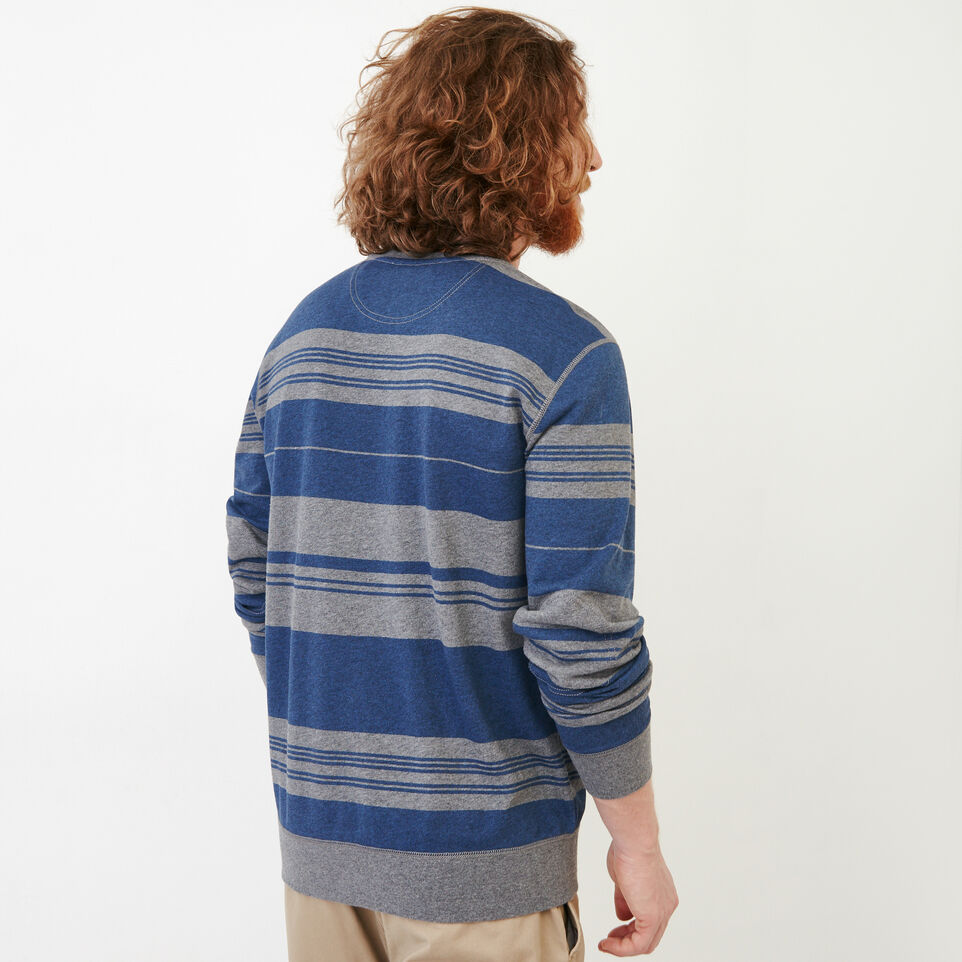 Roots-undefined-Rugby Stripe Crew Sweatshirt-undefined-D