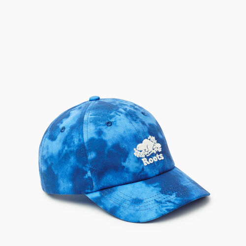 Roots-Kids Accessories-Kids Tie Dye Baseball Cap-Blue-A