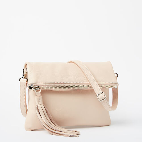 Roots-Leather Handbags-Anna Clutch Prince-Blush-A