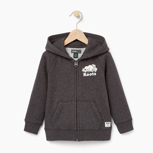Roots-Winter Sale Toddler-Toddler Original Full Zip Hoody-Charcoal Mix-A
