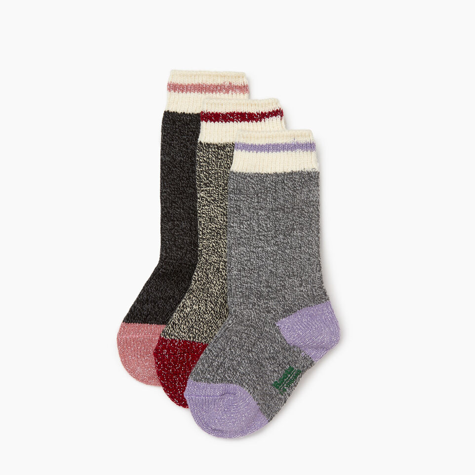 Roots-undefined-Kid Girl Sparkle Cabin Sock 3 Pack-undefined-B