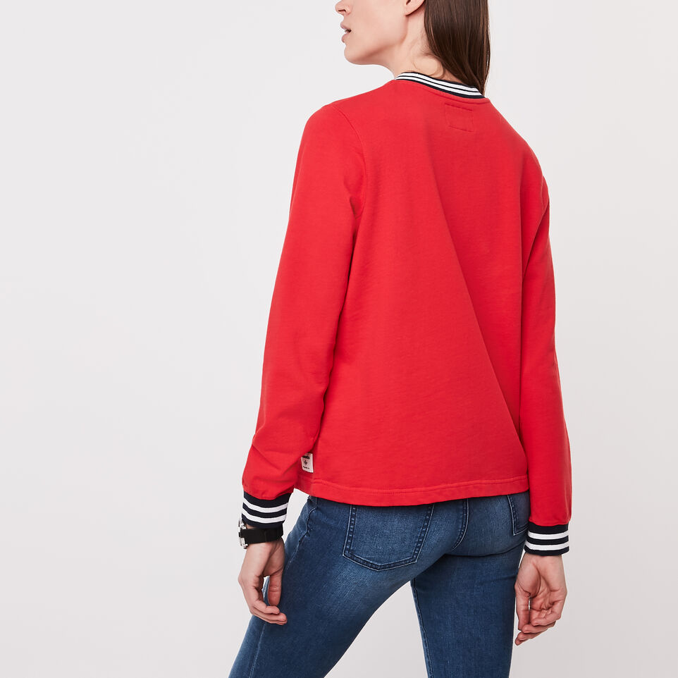 Roots-undefined-Varsity Chenille V-neck Sweatshirt-undefined-D