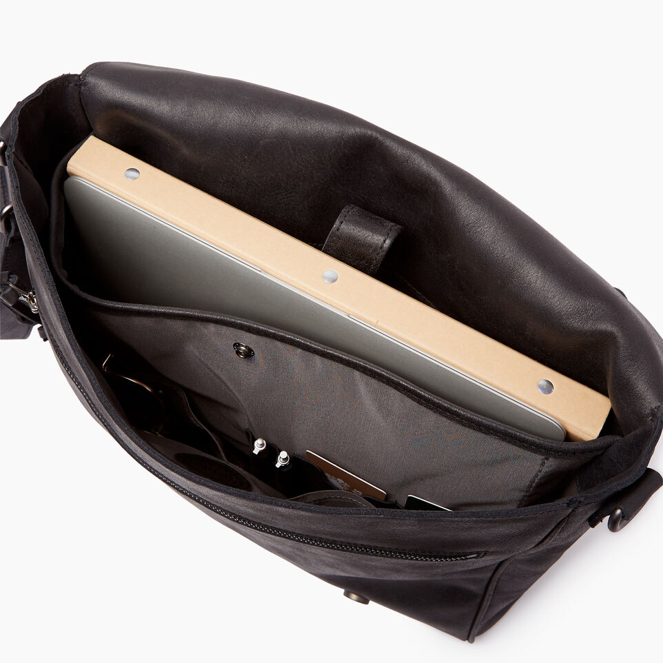 Roots-Leather Tribe Leather-Modern Satchel Tribe-Jet Black-D