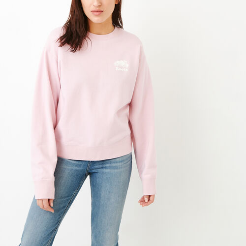 Roots-New For March Sweats-Side Snap Crew Sweatshirt-Pink Mist-A