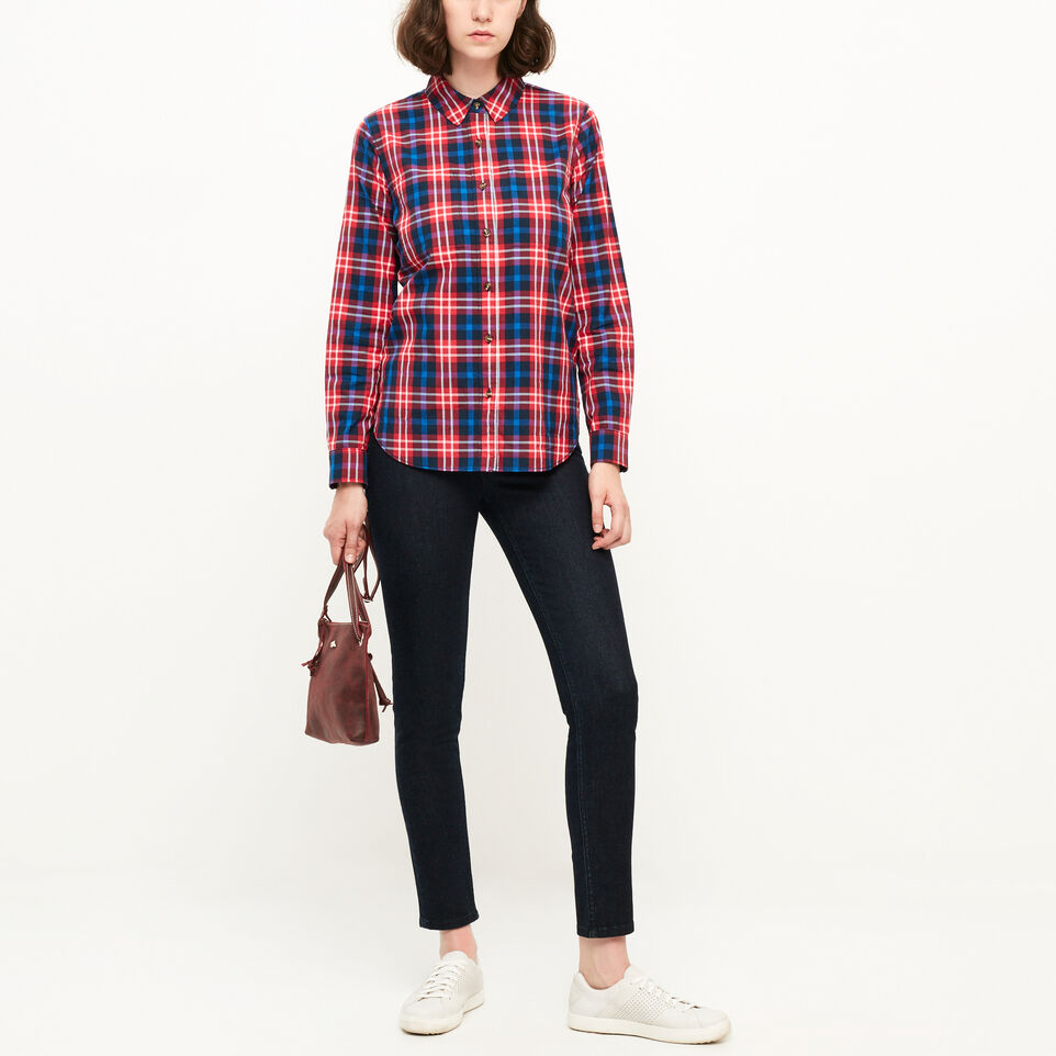 Roots-Clearance Women-Brookside Poplin Shirt-Lollipop-B