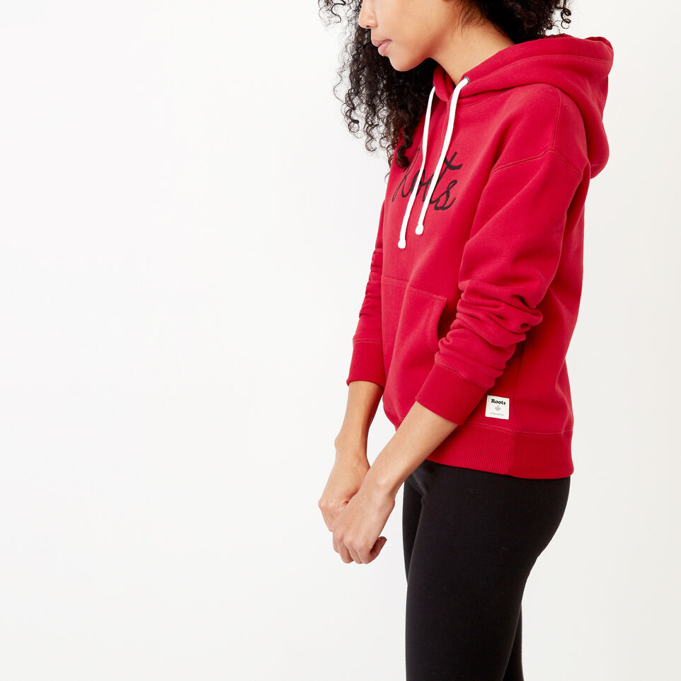 Roots-Clearance Women-Mabou Hoody-Cabin Red-C