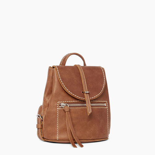 Roots-Leather Backpacks-Alex Anne Pack Tribe-Natural-A