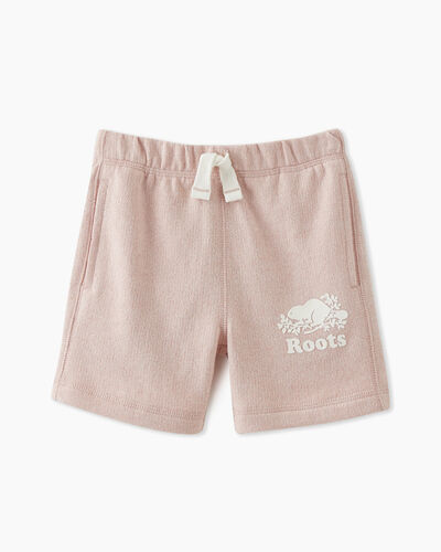 Roots-Sweats Toddler Girls-Toddler Original Roots Short-Pale Mauve Pepper-A