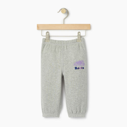 Roots-Kids Baby-Baby Original Roots Sweatpant-Grey Mix-A