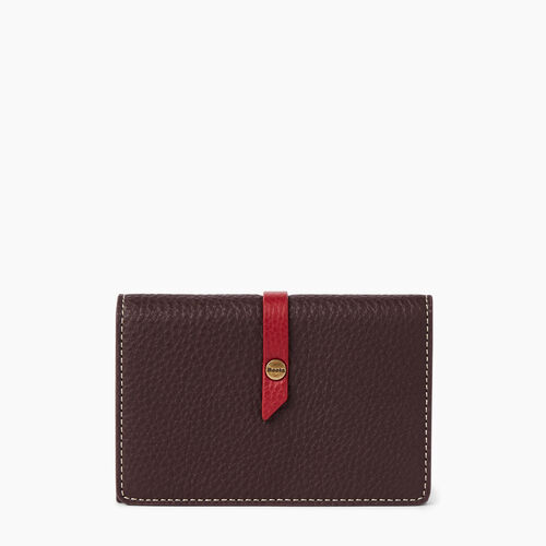Roots-Leather  Handcrafted By Us Wallets-Small Stella Wallet-Raspberry Wine-A
