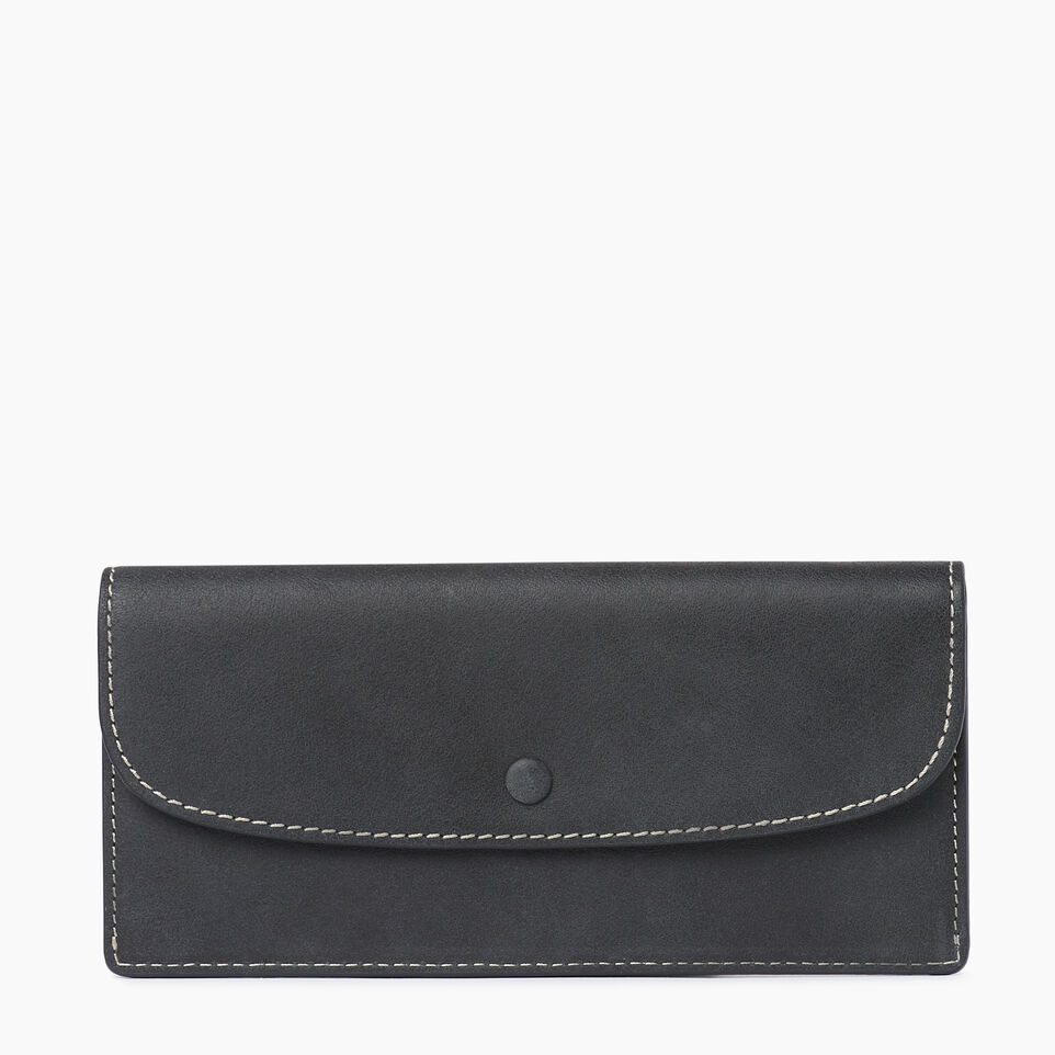 Roots-Leather  Handcrafted By Us Our Favourite New Arrivals-Riverdale Slim Wallet-Jet Black-A