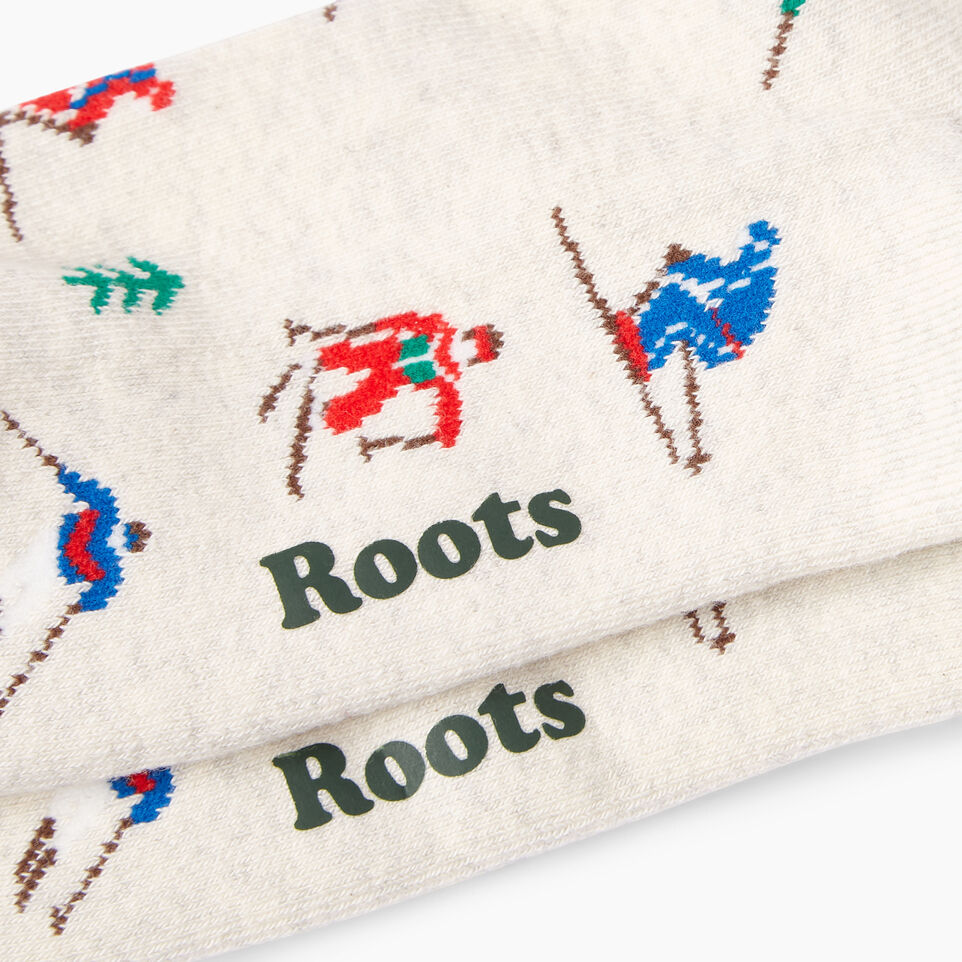 Roots-Women Our Favourite New Arrivals-Womens Slopes Boot Sock-White Mix-C