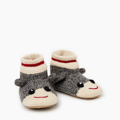Roots-Kids Toddler Boys-Toddler Cabin Monkey Slipper-Grey Oat Mix-A