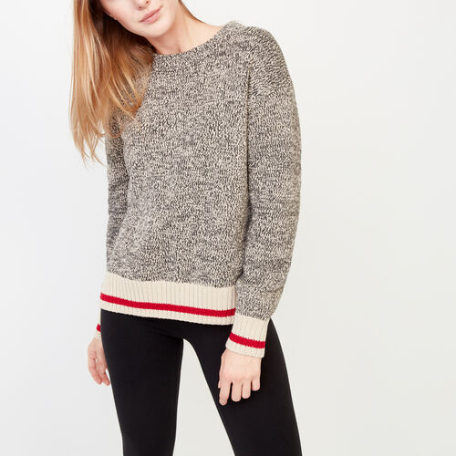 Roots-Women Our Favourite New Arrivals-Roots Cotton Cabin Crew Sweater-Grey Oat Mix-A