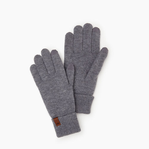 Roots-Men Categories-Roots Texting Glove-Grey Mix-A